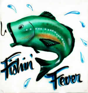 Fishin Fever airbrush t-shirt