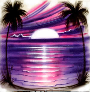 Purple and pink airbrush t-shirt