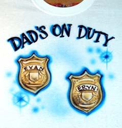 Dad's t-shirt police theme