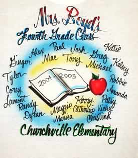airbrush t-shirt for 4th grade teacher