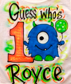 airbrush birthday t-shirt