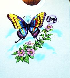 butterfly airbrush t-shirt
