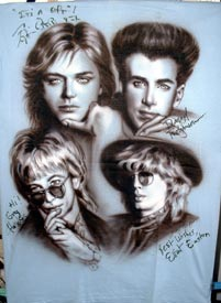 The Cars autographed airbrush t-shirt