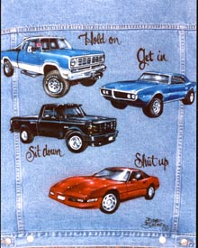 cars & trucjs airbrush denim jacket