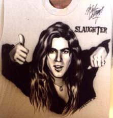 Mark Slaughter autographed airbrush t-shirt