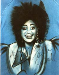 Patti LaBelle autographed airbrush t-shirt