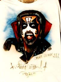 King Diamond autographed airbrush t-shirt