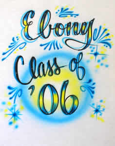 Class of 06 airbrush t-shirt