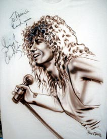 David Coverdale autpgraphed airbrush t-shirt