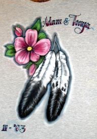feather airbrush t-shirt