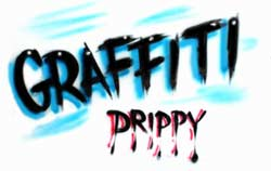 Graffiti and drippy airbrush lettering styles