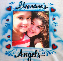 Airbrush t-shirt for Mothers Day