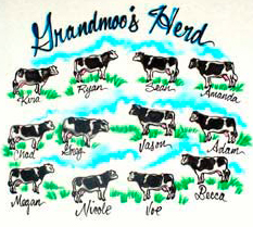 Mom's cows airbrush shirt