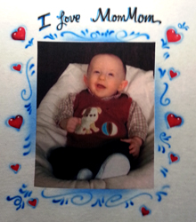 Photo transfer shirt with airbrush Mothers Day