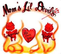 moms devils airbrush shirt