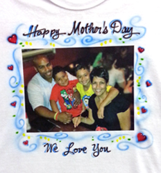 Mothers Day photo shirt with airbrush