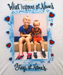 Mother's Day photo transfer shirt with airbrush