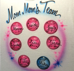 Mom's sweethearts airbrush shirt