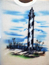Lighthouse airbrush t-shirt
