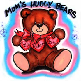 Teddy bear airbrush t-shirt