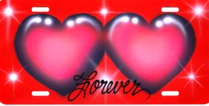 airbrush  license plates hearts