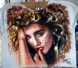 Madonna autographed airbrush t-shirt