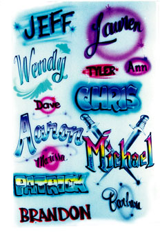 airbrush lettering styles chart