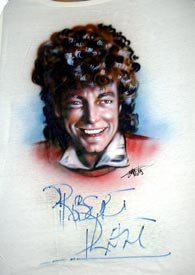Rpbert Plant autographed airbrush t-shirt
