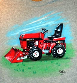 airbrush tractor on t-shirt