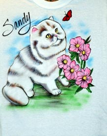 cat airbrush t-shirt
