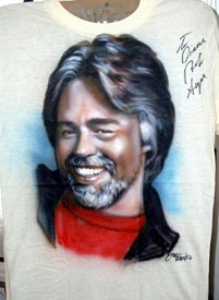 Bob Seger autographed  airbrush t-shirt