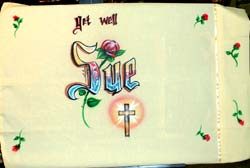 get well airbrush pillowcase