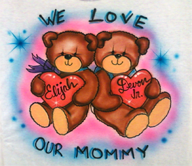 We Love Mom airbrush t-shirt