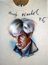 Andy Warhol autographed airbrush t-shirt