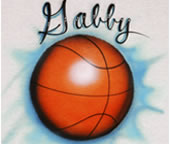 Basketball airbrush t-shirt