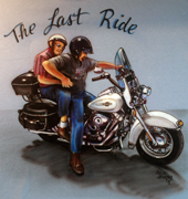 Airbrush motorcycle t-shirt The Last Ride